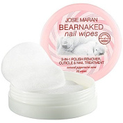 Josie Maran Bear Naked Nail Wipes 3-IN-1 Polish Remover Natural Peppermint 20 Wipes