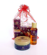 Gift Set 2-in-1 Spa-Quality Facial & Hair Care | Moroccan Argan Oil For Hair & Authentic Dead Sea Mud Mask For At-Home Facials | For Radiant Skin & Hair | Perfect Kit For Women & Men | Best Gift Ideas