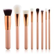 Summifit 8 Pcs Professional Makeup Brushes Set Powder Foundation Contour Blending Eyeshadow Blush Brush Kit