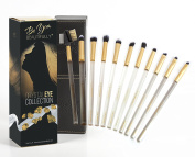 Exquisite 10 Piece Eye Brush Set | Crystal Eye Collection from Be You, BEAUTIFULLY | Professionally Designed With Bonus Lash/Brow Brush - Vegan, Hand Cut & Hand Made Brushes - Lifetime Guarantee