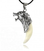 Doinshop New Man Wolf Tooth Necklace Titanium Steel Domineering Pendant Jewellery