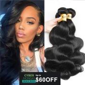 QTHAIR 8A Grade Brazilian Virgin Body Wave Hair 3 Bundles 30cm 36cm 41cm Natural Colour 100% Unprocessed Brazilian Virgin Human Hair Extension Body Wave