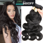 8A Grade Brazilian Body Wave Hair 3 Bundles 7.6cm x 25cm Natural Colour Brazilian Remy Vigin Human Hair Weave Wefts Extensions 300g