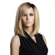 Asifen Long Straight Simulation Scalp Side Parting Wigs for Women