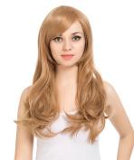ZUUC Women's Full Head Beautiful Long Curly Wave Wig