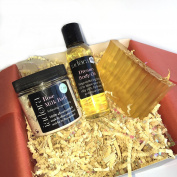 Gratitude Bath Gift Set ~ 100% Essential Oils + 100% All Natural ~ 3 aromatherapy bath products to bring gratitude + grounding ~ Makes A Great Gift