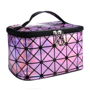 Hatop 3D laser Diamond Pattern Portable Cosmetic Bag