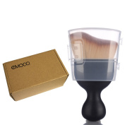 Premium Makeup Cosmetic Powder Face Coutour Sculpting Blush Brush Black with Clear Case