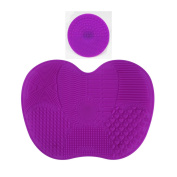 Sipaike Large Size Makeup Brush Cleaner Pad Washing Scrubber Soft Cleaning Mat Silicone Tool
