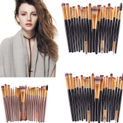 DaySeventh 20 pcs Makeup Brush Set tools Toiletry Kit Wool Make Up Brush Set Fashion