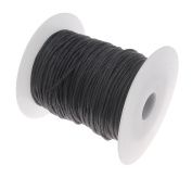 2mm 100Yards Waxed Thread Cotton Cord Plastic Spool String Strap Necklace Rope Bead For Necklace Bracelet DIY Making