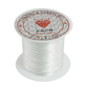 Crystal Thread,BANGCHIC 2Rolls Bead Craft Crystal, Stretchy String/Thread,White Elastic Round Line Bobbin Beading Jewellery Making Bracelet Crystal String Cord Dia 0.5-0.6mm