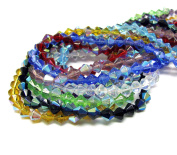 Linpeng RBB-6 Multicolors Crystal Beads Half Coated Bicone Mix Lot 600 pcs