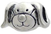 Cherityne Cute Dog Fit Pandora Charm Silver Plated Bead