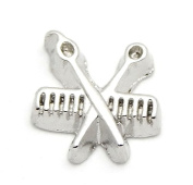 Cherityne Barber's Scissors and Comb Floating Charm for Locket Pendants