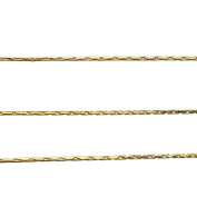18k Gold-Flashed Sterling Silver Diamond-Cut Beading Chain 0.9mm Italy Unfinished Bulk 1.5m