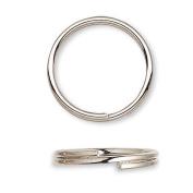 100 Plated Steel 8mm Round Double Loop Split Ring Jewellery Findings