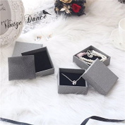 Set of 6 Square Cardboard Earring Pendant Jewellery Gifts Boxes,7.6cm x 7.6cm x 3cm