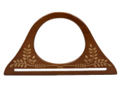 Ownstyle Stamping Carve Patterns Wood Purse Handle For Sewing 2 Pcs