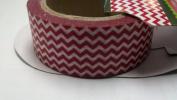 Red Chevron Stripe Washi Tape - 10 Yards