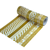 ATC 10pcs Rolls Washi Masking Tape Collection for Decoration and DIY Craft Sticker
