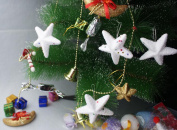 Christmas Ornaments Decorations,6PC Christmas Charms Holiday Party FIVE STARS Decorations