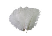 10PCS Turkey Velvet White Feather for Home Decor Decorating Improvement
