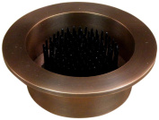 JWL (1) Solid Brass Water Holding Ikebana Cups 10cm Lip Fits 7.6cm Hole Copper Antique Colours