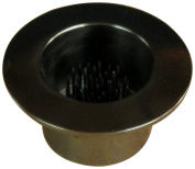 JWL (1) Solid Brass Water Holding Ikebana Flower Cup 8.9cm Lip Black Nickel Colour Pin Frog Holder