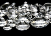 Clear Crystal Acrylic Diamonds Round Assorted Sizes Vase Filler