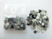 Hakatai Vitreous Glass Tile 1.9cm - 0.5kg Black White Grey AB 06