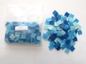 Hakatai Glass Tile 1.9cm - 0.5kg Cyan Blue AB 02