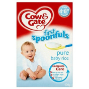 Cow & Gate First Spoonfuls Pure Baby Rice From 4-6m Onwards - 9 x 100g