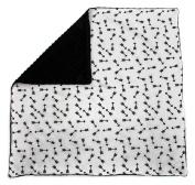 Dear Baby Gear Baby Blankets, Arrows Black on White, Black Minky