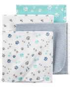 Carters Flannel Receiving Blankets, Paws