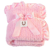 Max Daniel Baby Pink Chenille - Double Sided- Ruffle Edge 1191