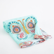 Baby Boho Collection 100cm x 70cm Velour Baby Blanket