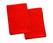 2 Red Toddler Pillowcases - Envelope Style - 13x18 - 100% Cotton With Percale Weave - Machine Washable - ZadisonJaxx ZacharyPaul Collection - 2 Pack