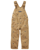 Oshkosh B'gosh Baby Boys' Schiffli Fighter Jet Canvas Overalls Tan