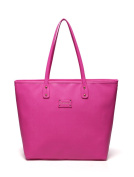 BayB Brand Colorland Leather Nappy Tote Bag - Pink