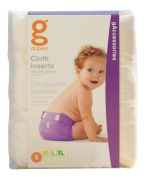 2pk gDiapers gCloth Inserts Medium/Large/XL 6ea