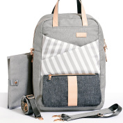 Gadikat Nappy Backpack - Dani Collection Ashen, Complementary Changing Pad Included