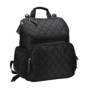 Vlokup Best Multifunction Designer Baby Nappy Bag Backpack Travel Nappy Bag for Stylish Moms & Dads Smart Organise System Waterproof with Changing Pad, Wet Bag, Stroller Straps Black