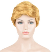 SiYi USA Political personnel Donald Trump Style Hair Gold Short Curly Cosplay Wigs