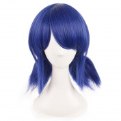 SiYi Blue Shaggy Hair Movi Miraculous Ladybug Girl Short Curly Cosplay Wigs