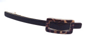 Wardani, Skinny long barrette with rectangle shape Buckle (554)
