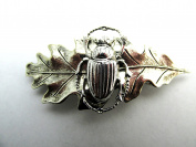 Scarab Hair Barrette Egyptian Revival Hair Clips Artisan Crafted Hair Clips Angelina Verbuni