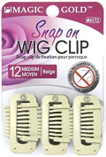 """ Magic Gold "" Snap On WIG CLIP No Seams or Needles"