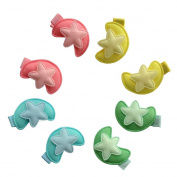 10pcs Baby Toddler Butterfly Hair Clip Colourful Mini Hair Clips-