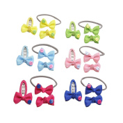 18Pcs 5.1cm Toddler Ribbon Hair Clips Hair Rope Set Baby Little Girls Boutique Hair Bows Hair Clips Baby Girls Toddlers Kids Barrettes
